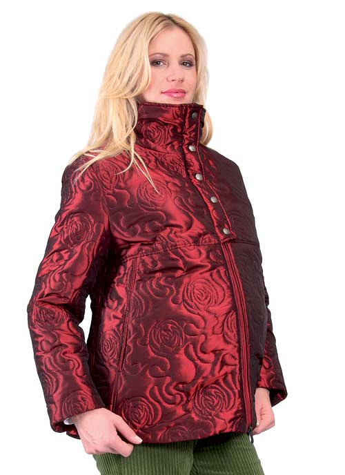 Těhotenská bunda Mouzon - bordó 0088