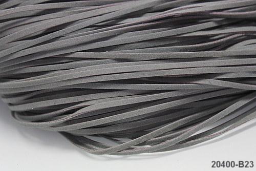20400-B23 Semišová šňůrka 100cm ŠEDÁ, bal. 3ks