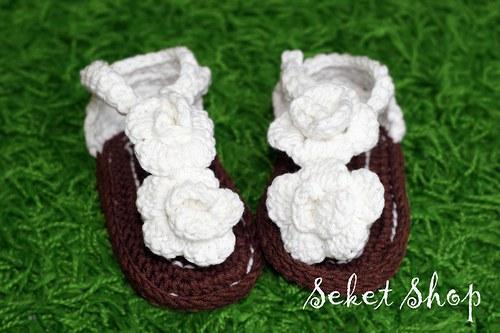 Dětské sandálky s kytkou
