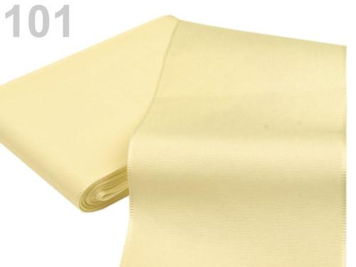 Taftová stuha 108mm (10m) - krémová nejsvět.