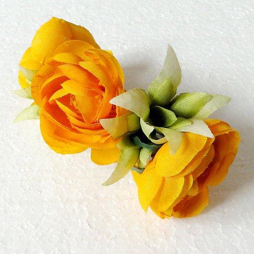 Květinová spona žlutá růže - SLEVA!!!