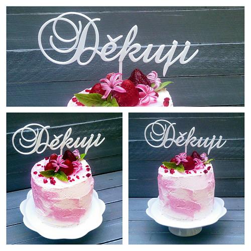 Děkuji - dortový zápich