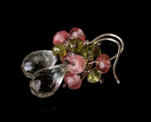 """Náušnice  \""""Květy jabloně\"""" Ag 925"""