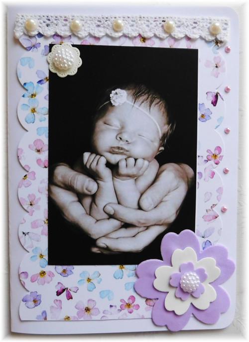 přání do obálky- k narození miminka