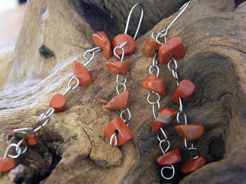 Náušnice s červeným jaspisem