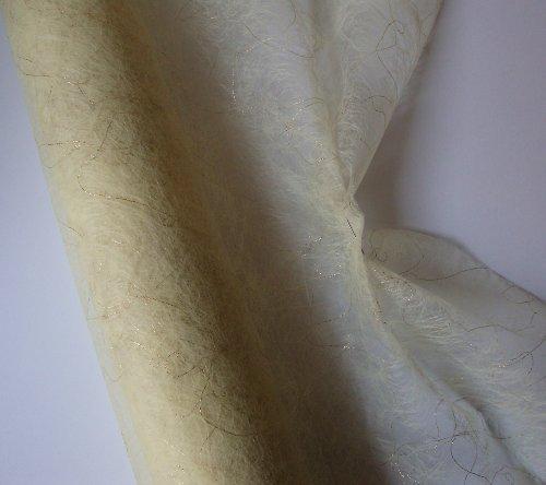 Dekorační tkanina se zlatou nitkou