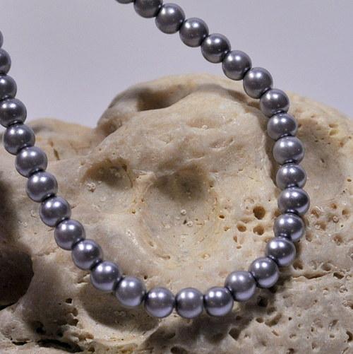 40. Voskové perle 4 mm/30ks/ silver