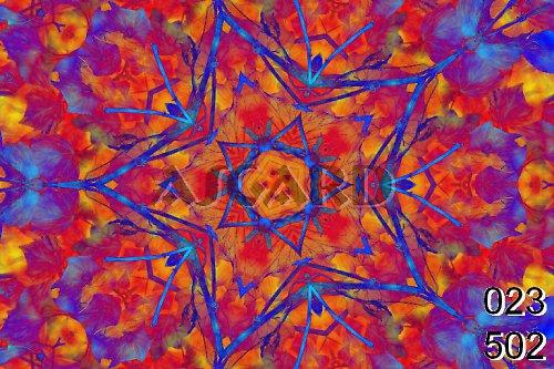 Mandala obarveného listí