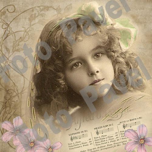 Vintage motiv - foto dívky 3