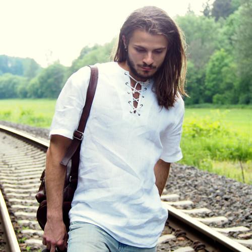 Na cestě za snem...pánská, lněná košile