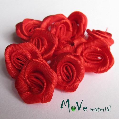 Růžička saténová červená Ø20mm, 10kusů