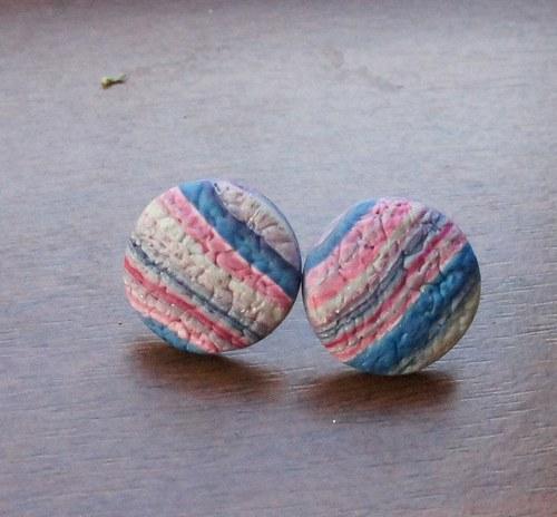 Pecky strukturované - růžovo-modré