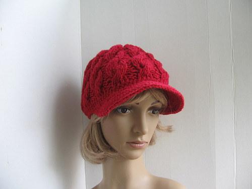 Červená kšiltovka dámská,dívčí.