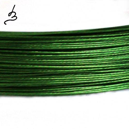 Ocelové lanko zelené 0,38