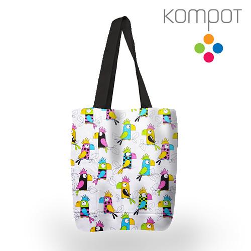 Taška 068 :: Papoušci barevní - zapínání na ZIP