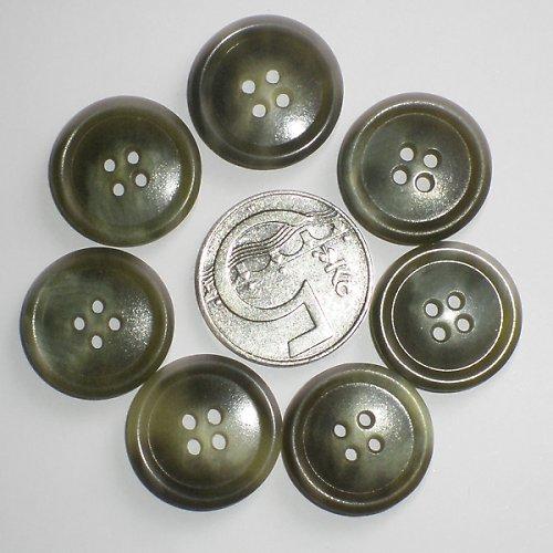 7 olivových knoflíků