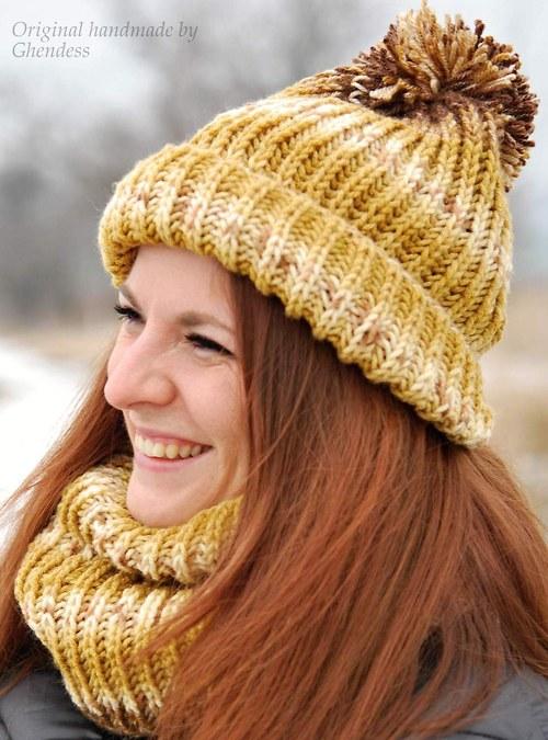 Pletená sada - Béžovohnědá