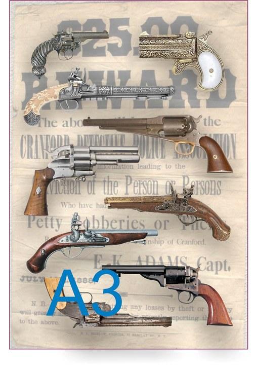 Koláž kolty a pistole