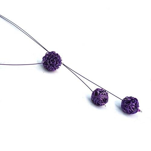 Fialová odrátkovaná - náhrdelník