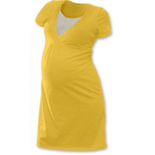 Noční košile pro kojící maminky- světle oranžová