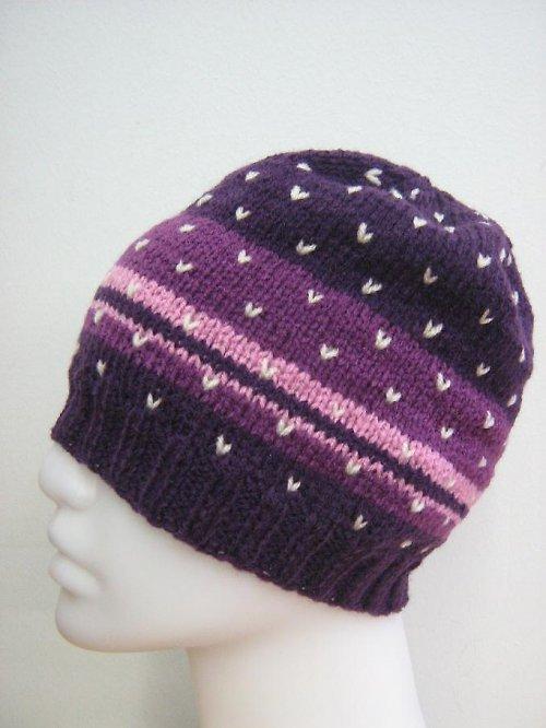 Barevná, pletená čepice