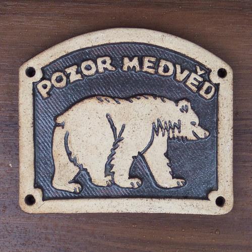 Kachlík č.61 - Pozor medvěd