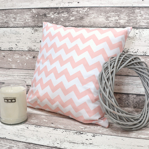 Polštářek LIGHT PEACH chevron