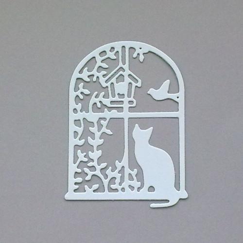 Výsek - Kočka za oknem - barva dle přání