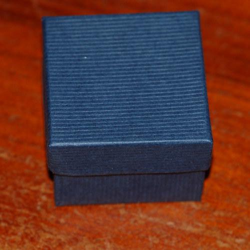 Dárková krabička modrá