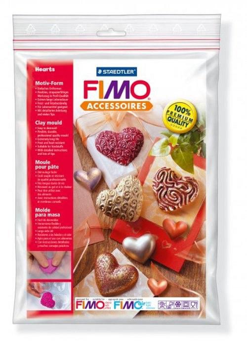 Formy na Fimo / silikonové / Srdíčka