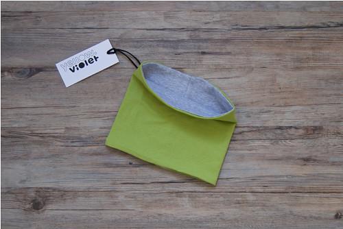 Nákrčník limetkový - šedý