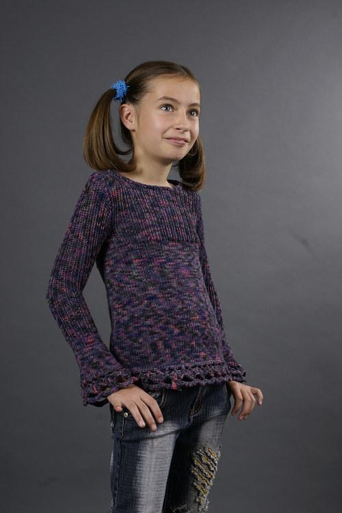 Popis - návod na pletenou dívčí tuniku Berries
