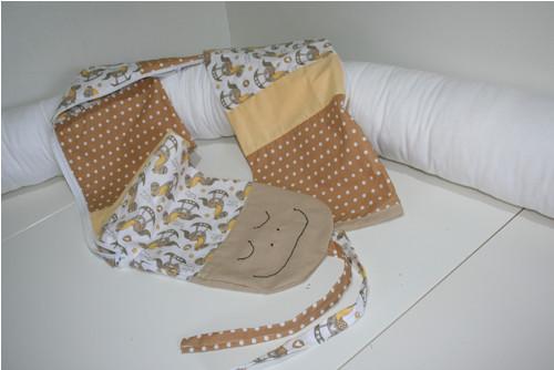Textilní had - mantinel, s povlakem!
