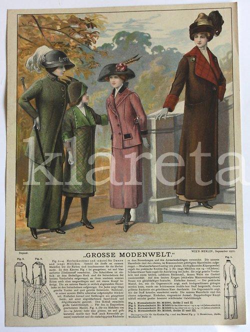originální módní litografie z roku 1911
