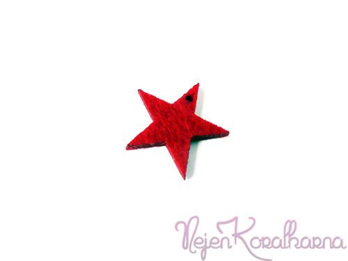 Hvězda červená 2ks