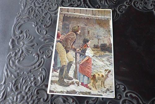 Jaroslav Špillar - Již jdou...stará pohlednice