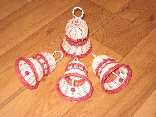 Vánoční ozdoby - zvonečky červené