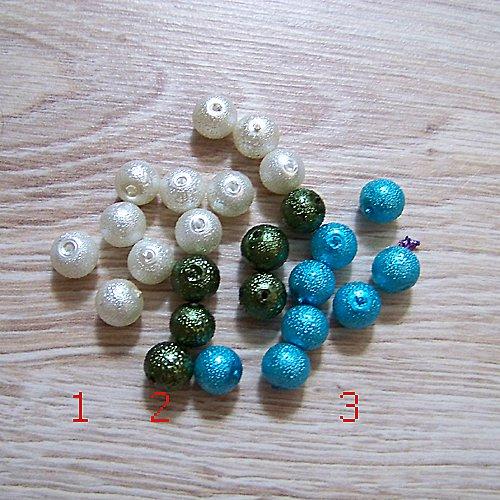 vroubkované voskové perly/ modrá č.3/ 8mm/10ks