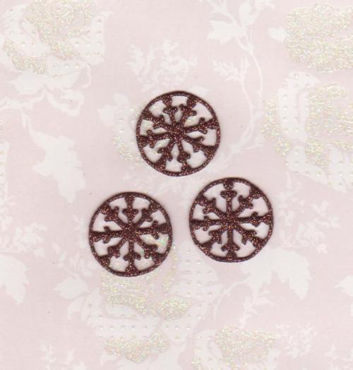 Vločky ze třpytivé pěnovky - hnědé (10 ks)