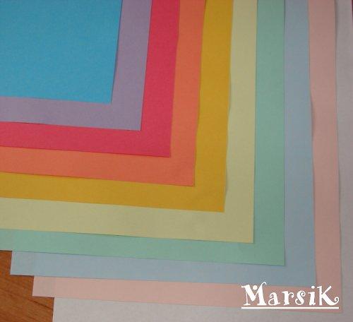 Sada barevných papírů - pastelové odstíny