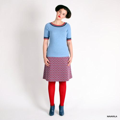 pletená sukně nad kolena - MÍNA - áčková