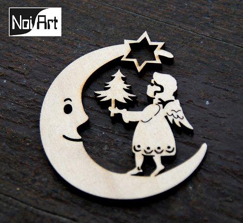 Mesiac s anjelom so stromčekom