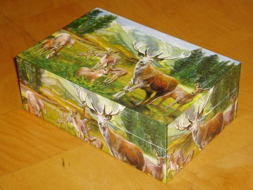 Krabice na čaj - 8 komor - Jeleni