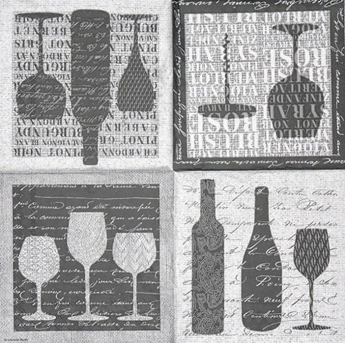 Ubrousek - víno v šedé barvě