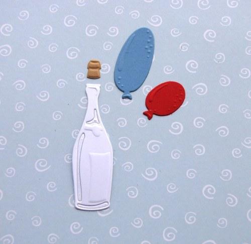 Šampaňské a balónky
