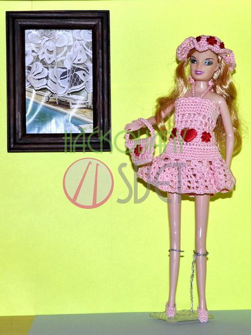 SLEVA:Letní komplet pro Barbie - růžový