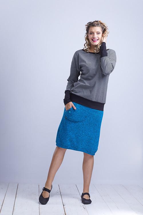 Shirt or Sweatshirt Gray/Black Stripes