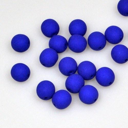 Neonové korálky 50 ks / 8 mm / tmavě modré