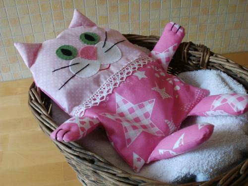 Nahřívací polštářek kočička Hvězdička