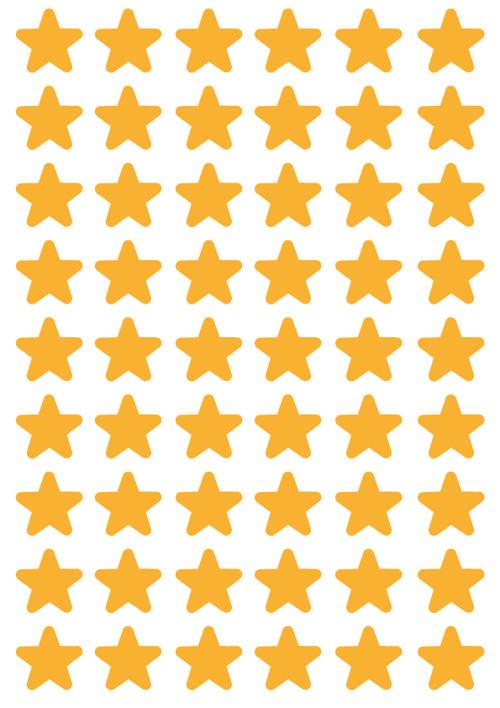 Hvězdičky_zaoblené rohy_zlaté